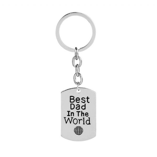 Best Dad in the World Keyring